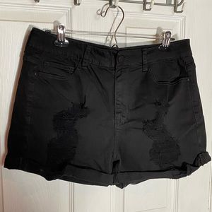 Forever 21 high-waisted distressed denim shorts